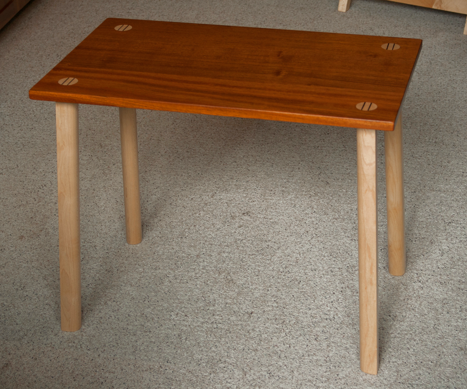 Cane Creek side table, Brazilian cherry and maple, 16.5 x 27 x 22 inches, $720 each (matched pair in stock)